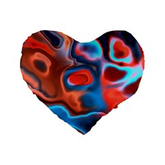 Abstract Fractal Standard 16  Premium Heart Shape Cushions