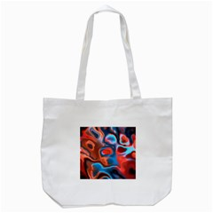 Abstract Fractal Tote Bag (White)