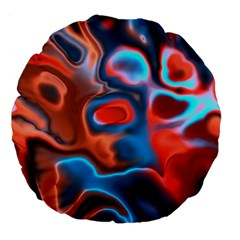 Abstract Fractal Large 18  Premium Flano Round Cushions