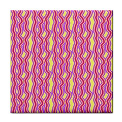 Pink Yelllow Line Light Purple Vertical Tile Coasters