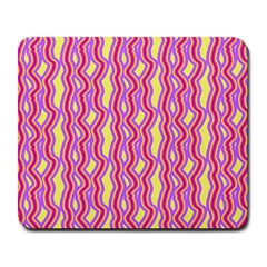 Pink Yelllow Line Light Purple Vertical Large Mousepads