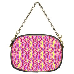 Pink Yelllow Line Light Purple Vertical Chain Purses (Two Sides)