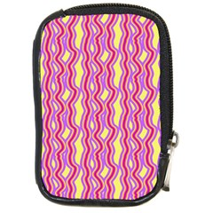 Pink Yelllow Line Light Purple Vertical Compact Camera Cases