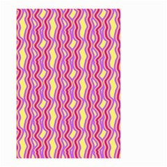 Pink Yelllow Line Light Purple Vertical Small Garden Flag (two Sides)
