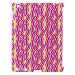 Pink Yelllow Line Light Purple Vertical Apple iPad 3/4 Hardshell Case (Compatible with Smart Cover)