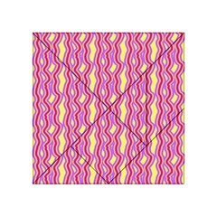 Pink Yelllow Line Light Purple Vertical Acrylic Tangram Puzzle (4  x 4 )