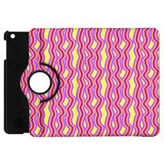 Pink Yelllow Line Light Purple Vertical Apple iPad Mini Flip 360 Case