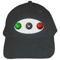9 Power Buttons Black Cap