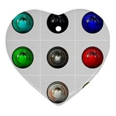 9 Power Buttons Ornament (heart)