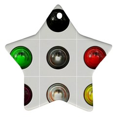 9 Power Buttons Ornament (star)