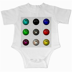 9 Power Buttons Infant Creepers