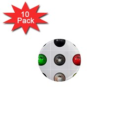 9 Power Buttons 1  Mini Magnet (10 pack)