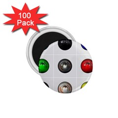 9 Power Buttons 1.75  Magnets (100 pack)