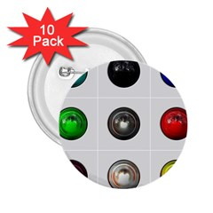 9 Power Buttons 2 25  Buttons (10 Pack)