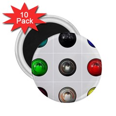 9 Power Buttons 2 25  Magnets (10 Pack)
