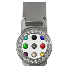 9 Power Buttons Money Clips (cz)