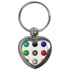 9 Power Buttons Key Chains (heart)