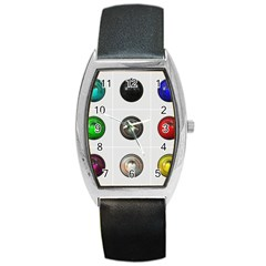 9 Power Buttons Barrel Style Metal Watch