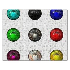 9 Power Buttons Rectangular Jigsaw Puzzl
