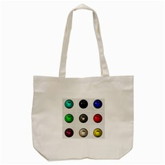 9 Power Buttons Tote Bag (cream)