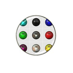9 Power Buttons Hat Clip Ball Marker