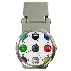 9 Power Buttons Money Clip Watches