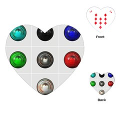 9 Power Buttons Playing Cards (heart)