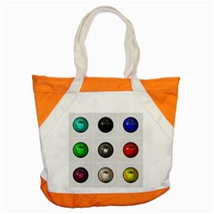 9 Power Buttons Accent Tote Bag