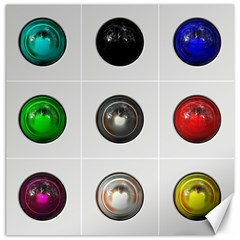 9 Power Buttons Canvas 12  x 12