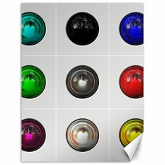 9 Power Buttons Canvas 12  X 16