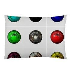 9 Power Buttons Pillow Case