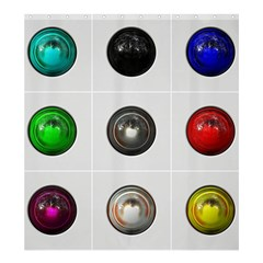 9 Power Buttons Shower Curtain 66  X 72  (large)