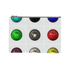 9 Power Buttons Cosmetic Bag (large)