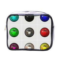 9 Power Buttons Mini Toiletries Bags