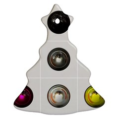 9 Power Buttons Ornament (Christmas Tree)