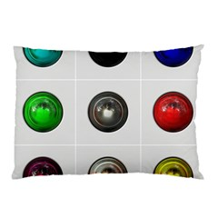 9 Power Buttons Pillow Case (Two Sides)
