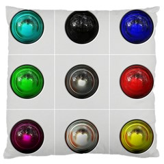 9 Power Buttons Large Cushion Case (Two Sides)