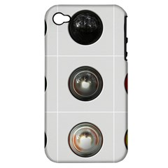 9 Power Buttons Apple iPhone 4/4S Hardshell Case (PC+Silicone)