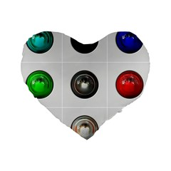 9 Power Buttons Standard 16  Premium Heart Shape Cushions