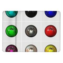9 Power Buttons Samsung Galaxy Tab 10.1  P7500 Flip Case