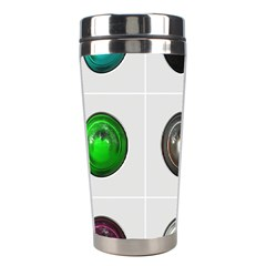 9 Power Buttons Stainless Steel Travel Tumblers