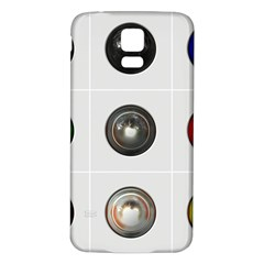 9 Power Buttons Samsung Galaxy S5 Back Case (White)