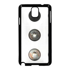 9 Power Buttons Samsung Galaxy Note 3 Neo Hardshell Case (Black)