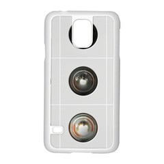 9 Power Buttons Samsung Galaxy S5 Case (White)