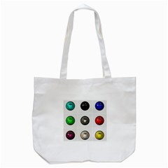 9 Power Buttons Tote Bag (White)
