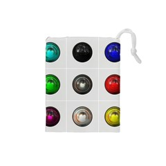 9 Power Buttons Drawstring Pouches (small)