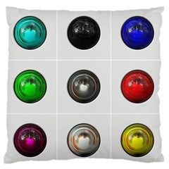 9 Power Buttons Large Flano Cushion Case (one Side)