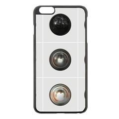 9 Power Buttons Apple Iphone 6 Plus/6s Plus Black Enamel Case
