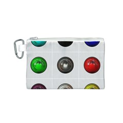 9 Power Buttons Canvas Cosmetic Bag (S)