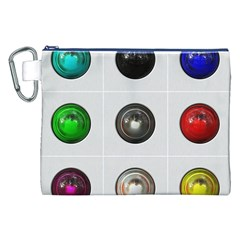 9 Power Buttons Canvas Cosmetic Bag (XXL)